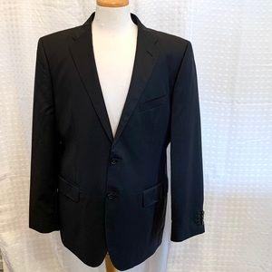 Saks Fifth Avenue Black Zegna Cloth 2 Btn blazer